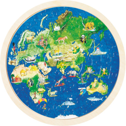 goki Puzzle inlay globe, 57 sztuk