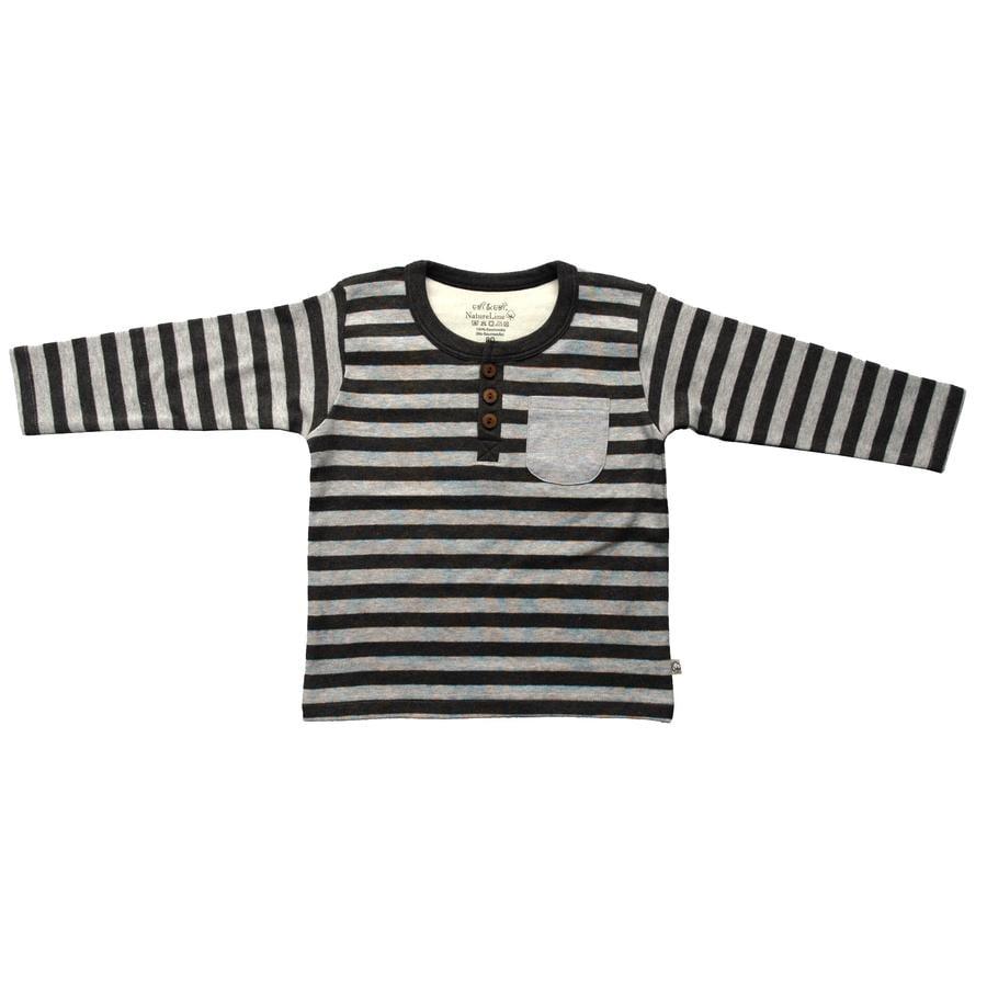 EBI & EBI långärmad skjorta ränder antracid / grå