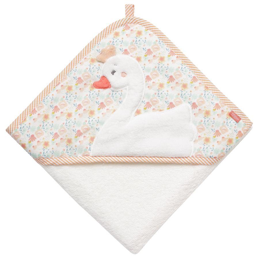 fehn Asciugamano da bagno con cappuccio Schwan