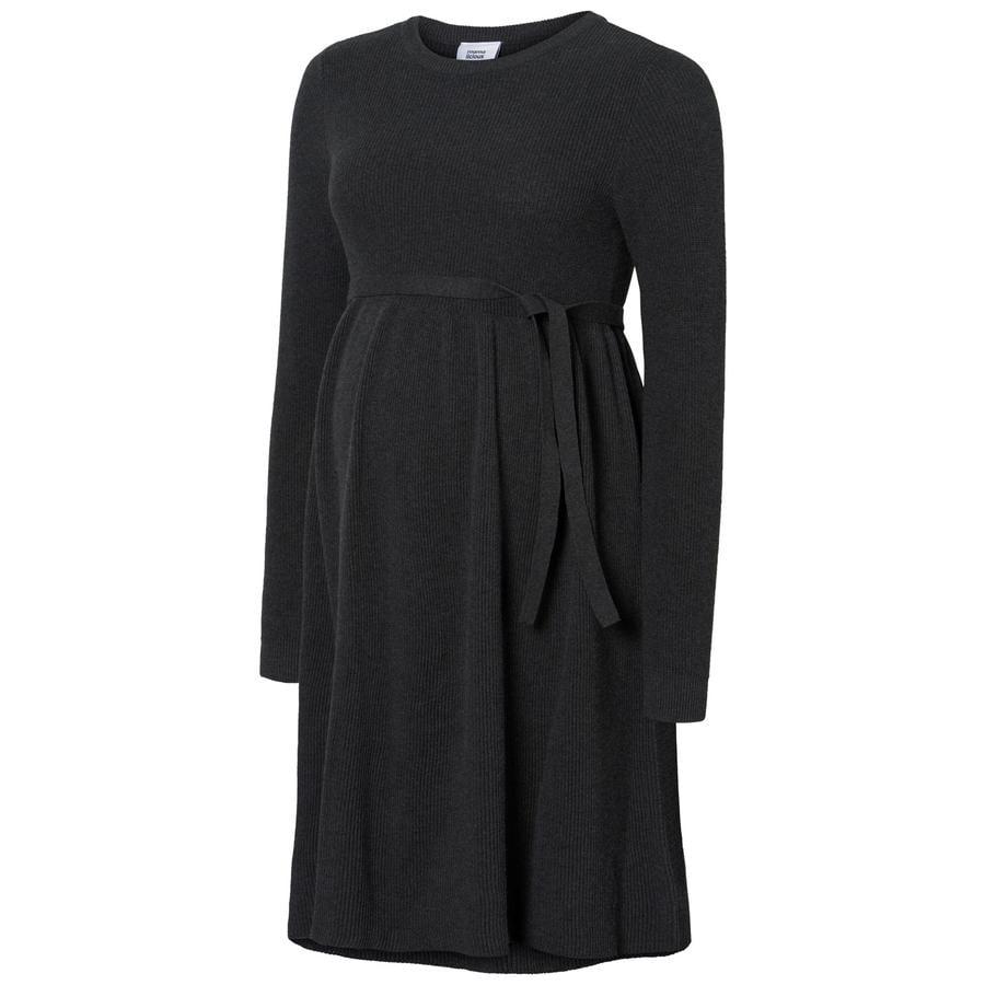 mama licious těhotenské šaty MLZOE Dark Grey Melange