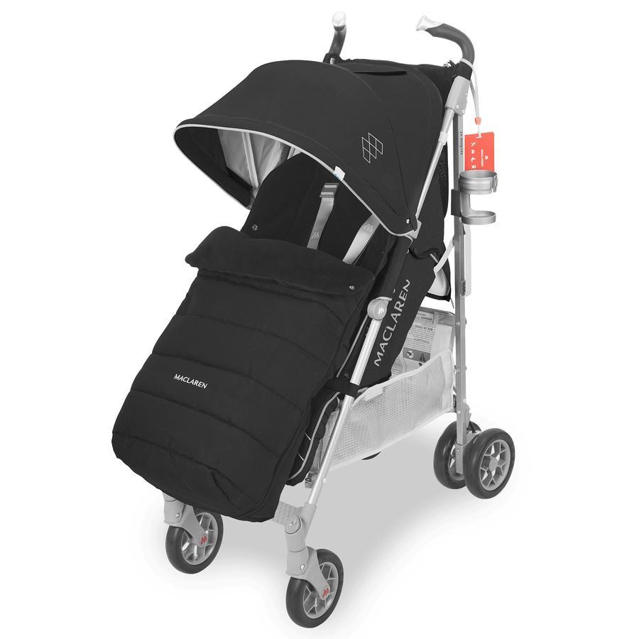 MACLAREN Conjunto de invierno de silla de paseo deportiva Techno XT  Style negro / plateado