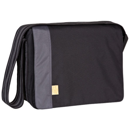 LÄSSIG Wickeltasche Casual Messenger Bag Solid black