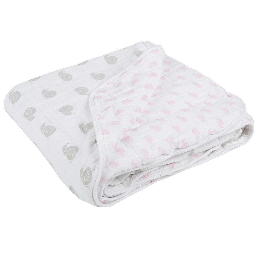 LÄSSIG Deken Cozy Blanket XL Sweet Snail Girls 120 x 120 cm
