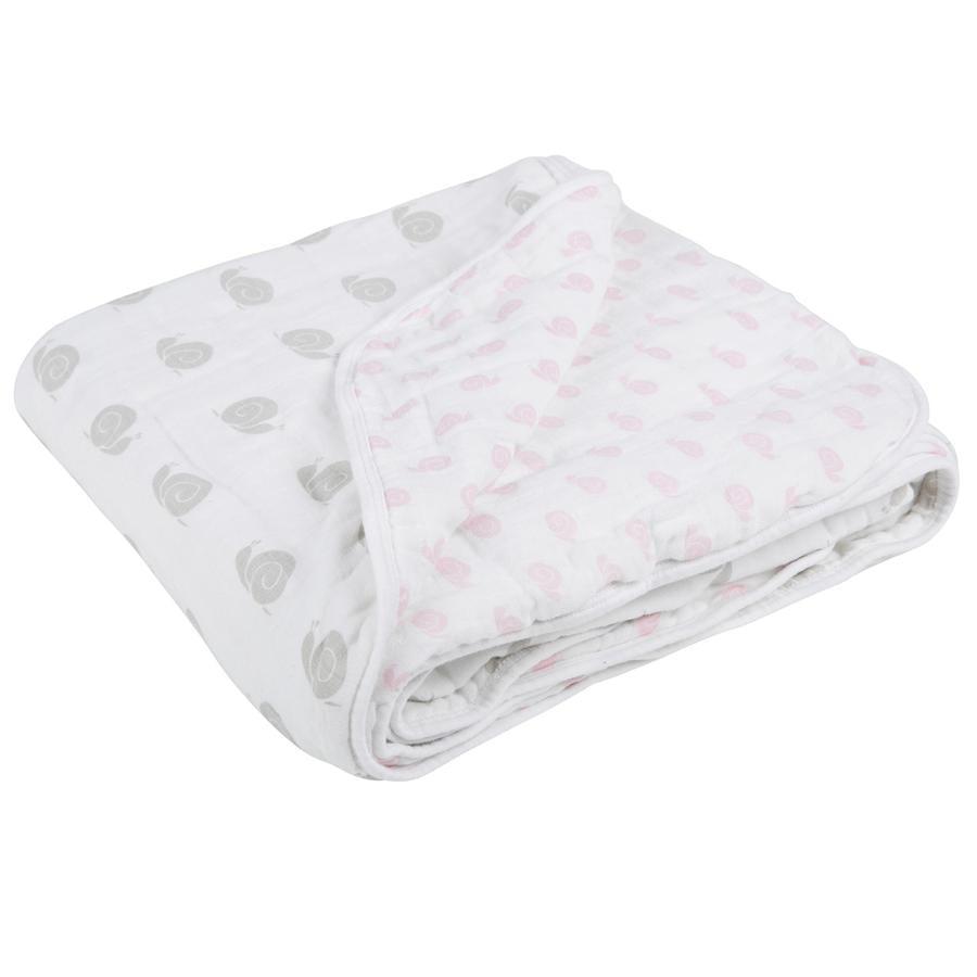 LŽSSIG Deka Blanket XL Sweet Snail, pro dívky, 120 x 120 cm
