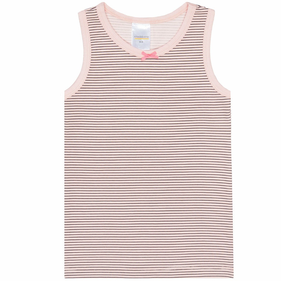 STACCATO Girls Top graphit gestreift