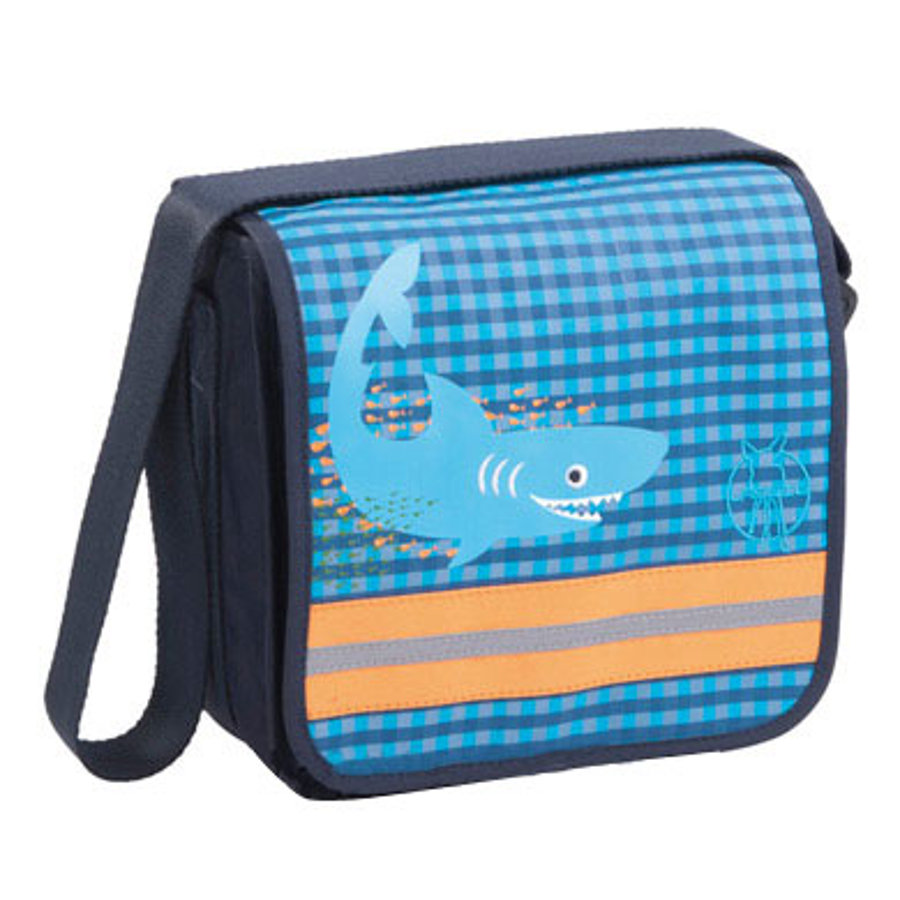 LÄSSIG Mini Messenger Bag Classic Design Shark ocean