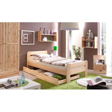 TICAA Łóżko dziecięce pojedyncze BERT 90 x 200 kolor naturalny