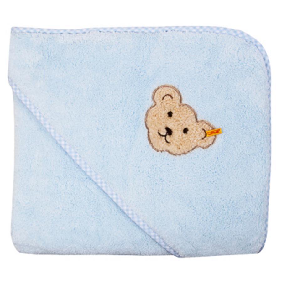 Steiff Boys Asciugamano in spugna con cappuccio baby blue
