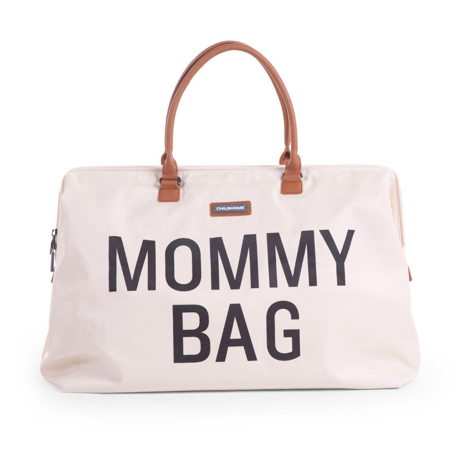 CHILDHOME Borsa Fasciatoio Mommy Bag grande avorio
