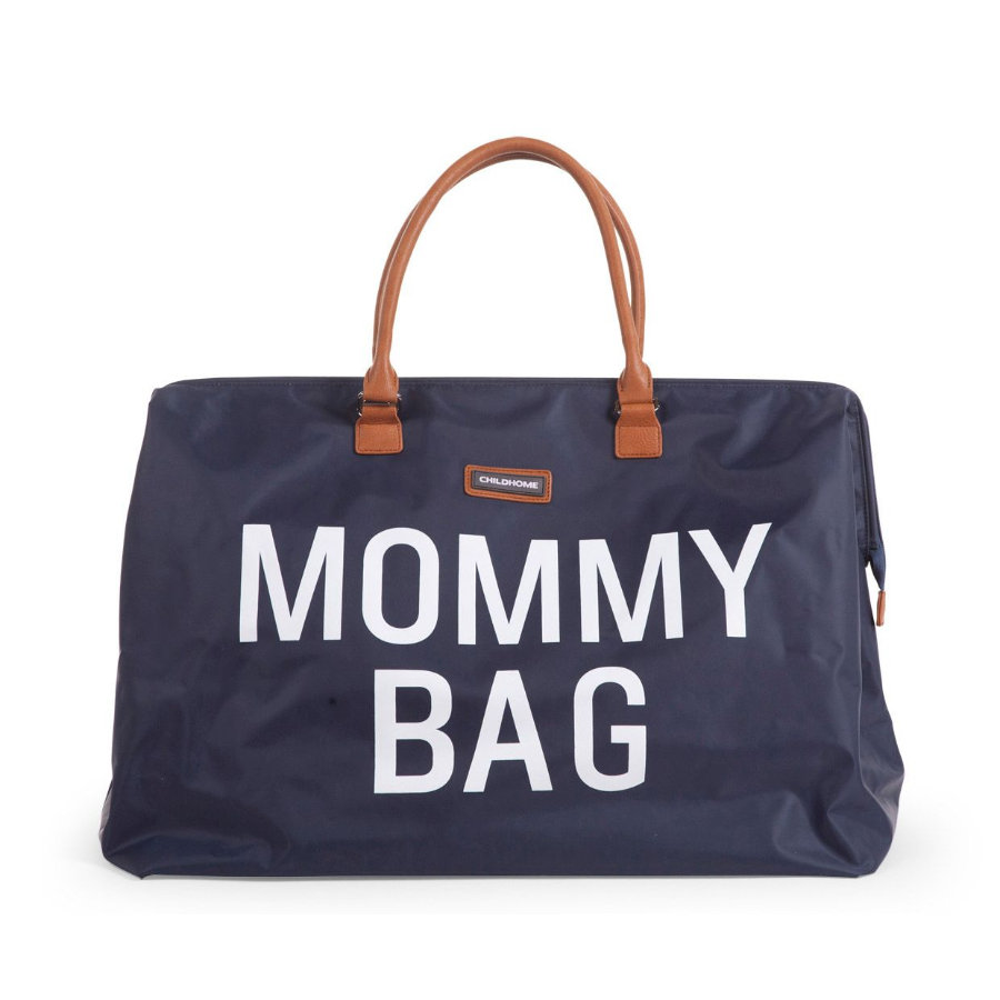 CHILDHOME Borsa Fasciatoio Mommy Bag grande Navy Blue blu