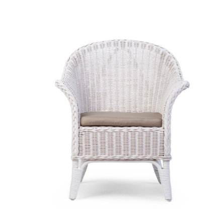 CHILDHOME Mimo Kid Wicker chair white met kussen