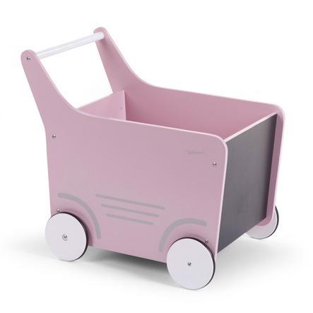 CHILDHOME Holzwagen rosa