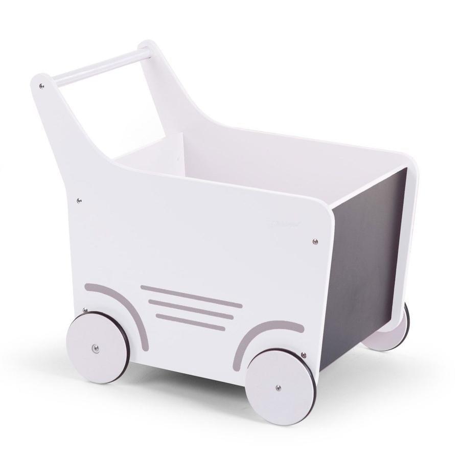 CHILDHOME Chariot enfant bois blanc