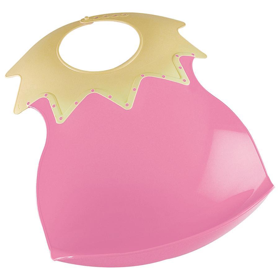 FUNNY Slabbetje met opvangbakje roze/geel