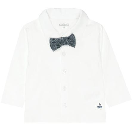 STACCATO Boys Chemise en jersey et noeud papillon blanc cassé