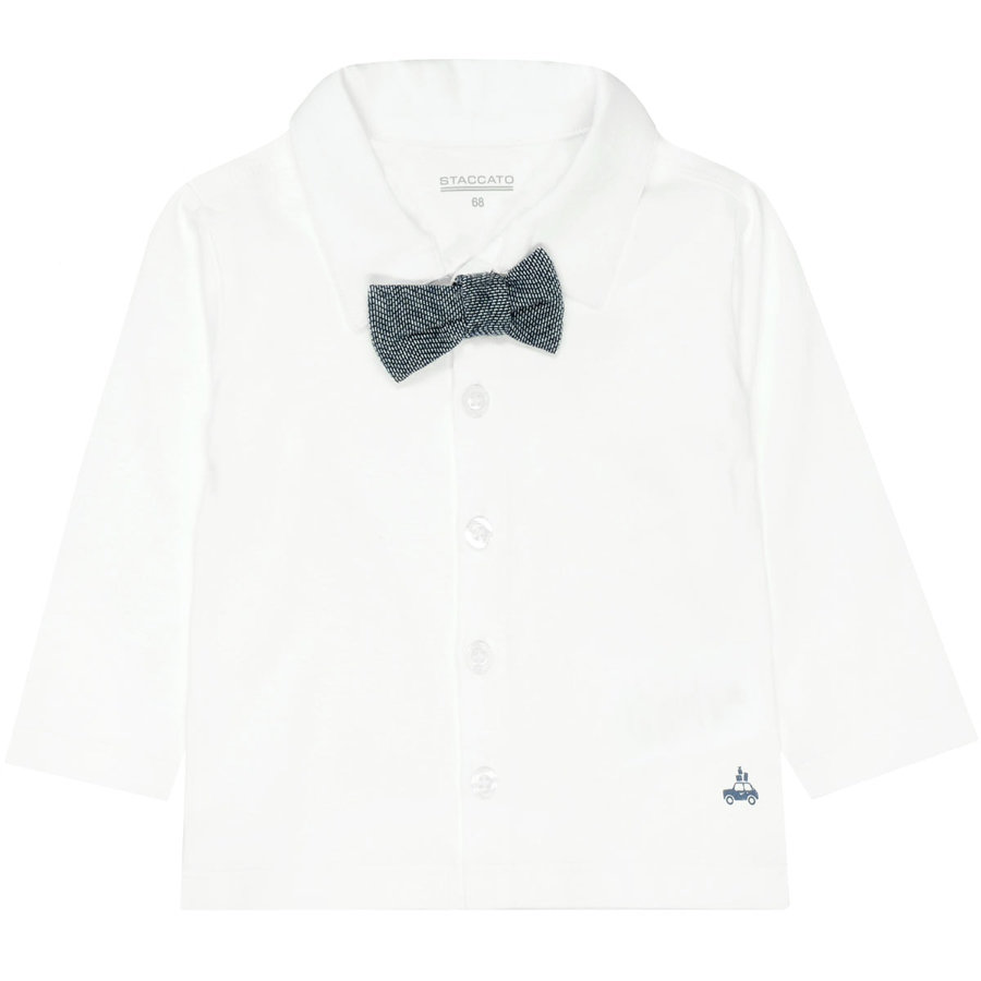 STACCATO Boys Jersey shirt en vlinderdasje offwhite