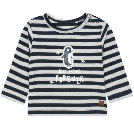 STACCATO Shirt met lange mouwen diep marineblauw gestreept