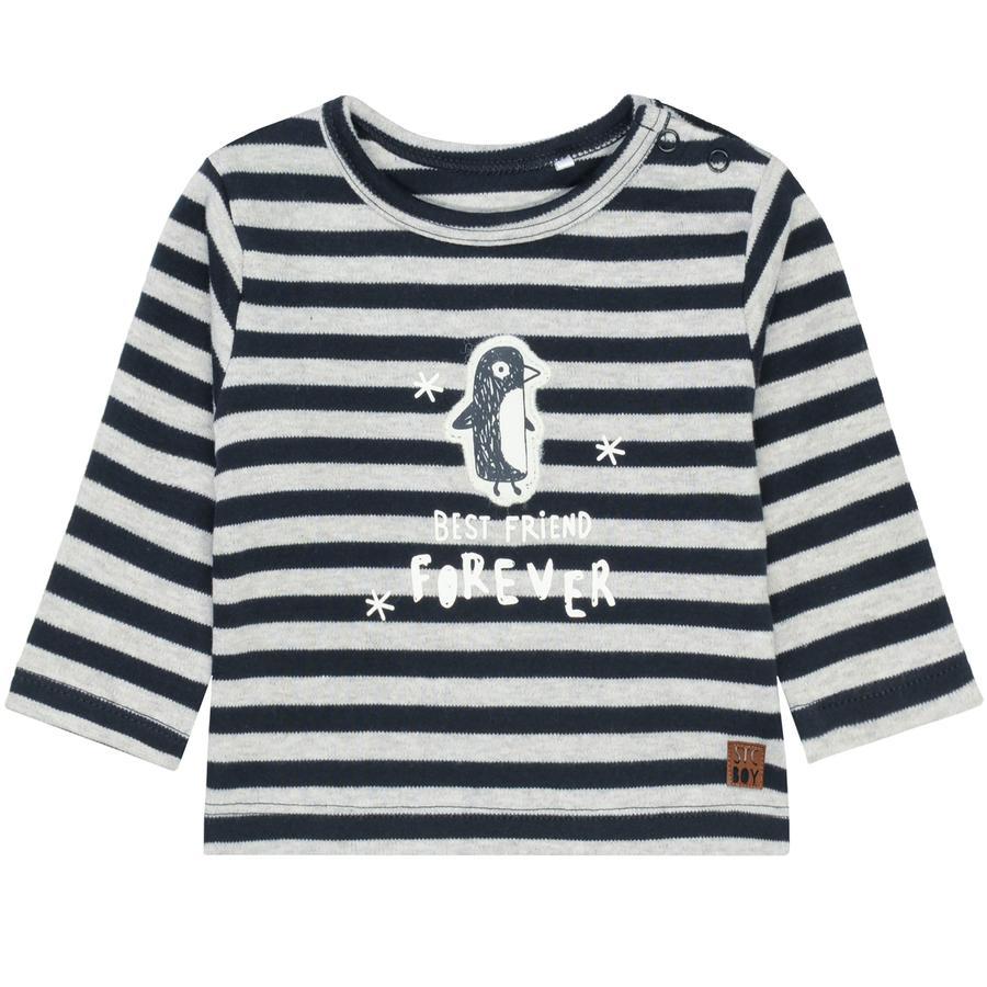 STACCATO Camisa de manga larga con rayas azul marino