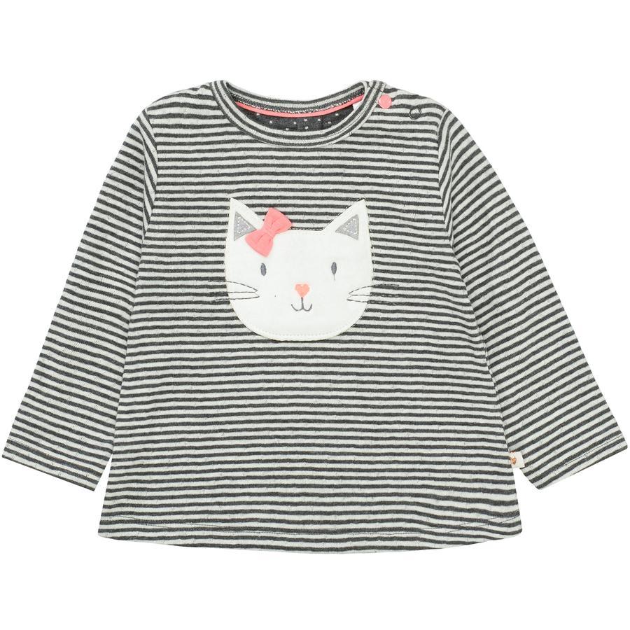 STACCATO Girl s camisa de manga larga grafito mélange rayado
