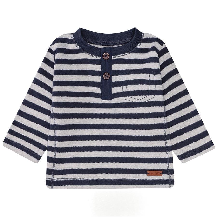 STACCATO Boys Camisa de manga larga con rayas azul marino