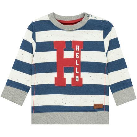STACCATO Boys Sweatshirt washed blue gestreift