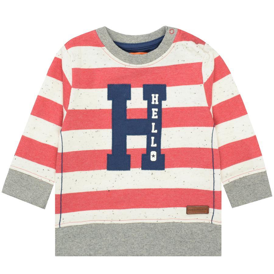 STACCATO Boys Sweatshirt licht rood gestreept