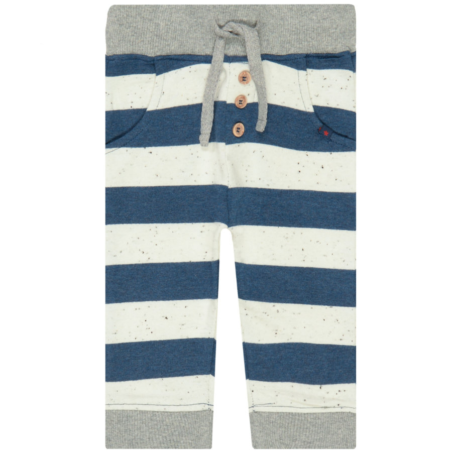 STACCATO Boys Jogginghose washed blue gestreift