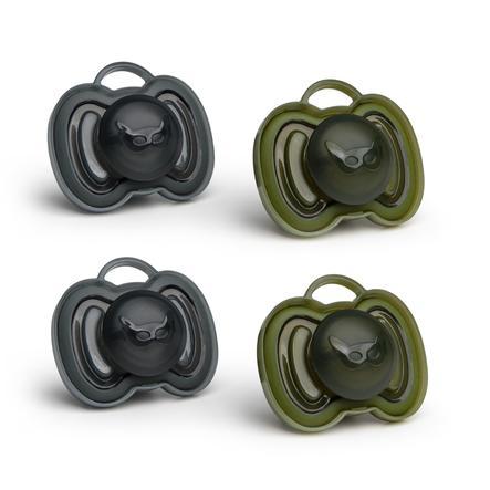 Herobility Smoczek 0-6 miesięcy 4 sztuki czarne/oliwkowe zielone