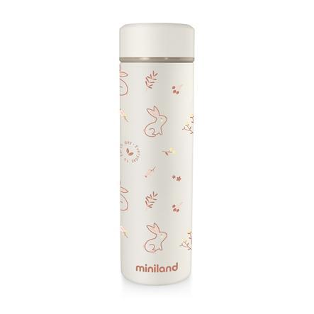 miniland natur Isolierflasche beige/orange 450 ml