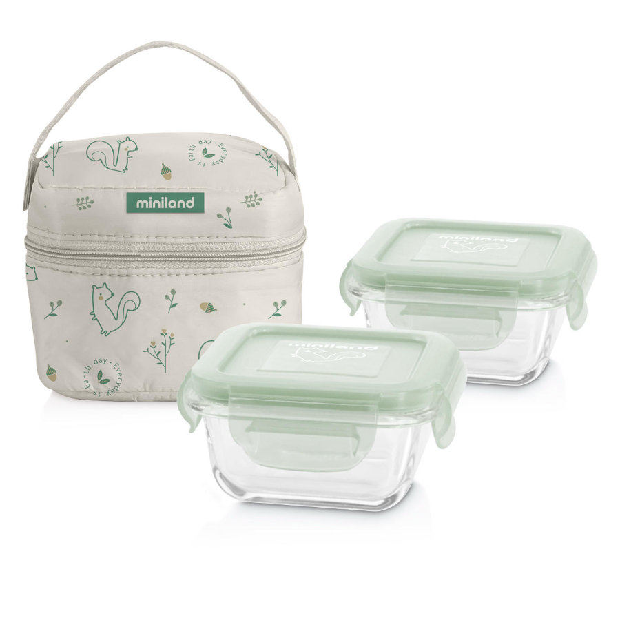 miniland pack-2-go naturSquare con sacchetto isolante verde