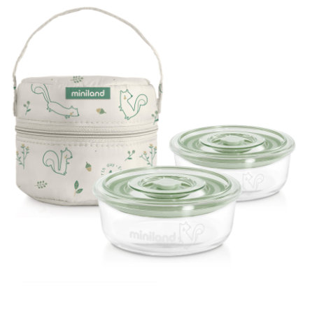 miniland pack-2-go naturRound s izolační taškou zelenou