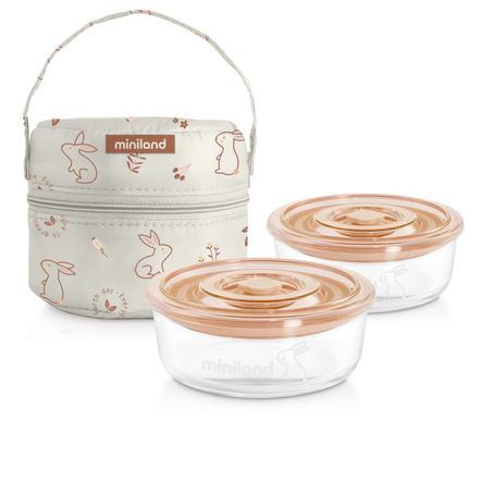myiland pack-2-go naturRund med isolasjonspose oransje