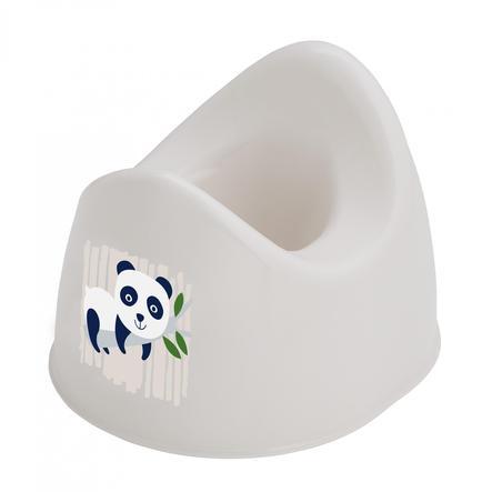 "Rotho Baby design  Maceta infantil Bio-Line creme blanca con Druck "" Panda "" "" """
