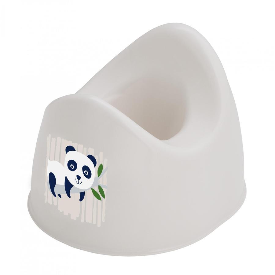 """Rotho Baby design  Bio-Line creme Biały garnek dla dzieci z Druck napisem """" Panda """"."""