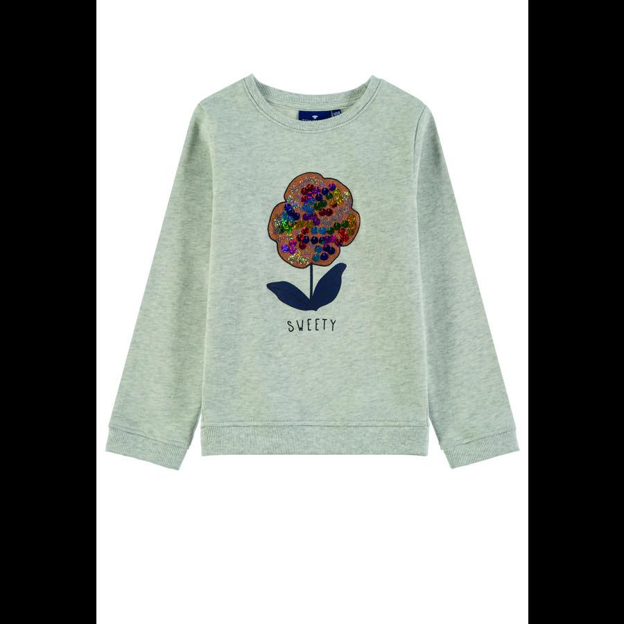 TOM TAILOR Girls Sweatshirt, beige