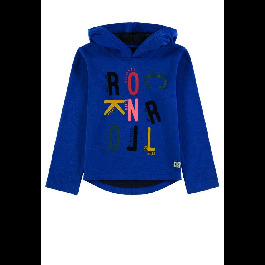 TOM TAILOR Boys shirt met lange mouwen en capuchon, blauw