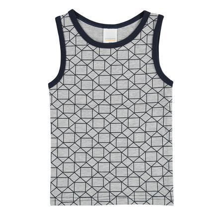 STACCATO Boys Camisa axilar con estampado gris medio