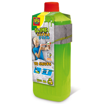 SES Creativ e® Schleime Blaster Pack de recharge - vert fluorescent 750 ml