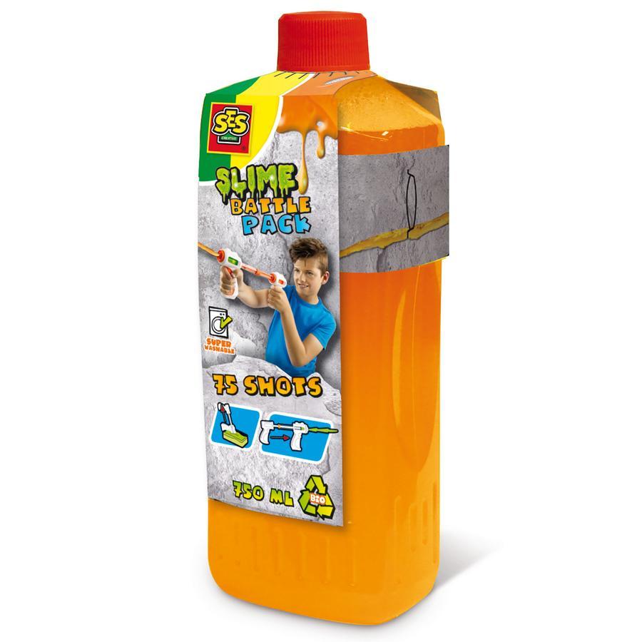 SES Creative® Slijm Blaster Navulling oranje neon 750 ml