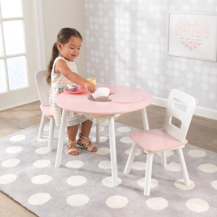 Kidkraft Ensemble Table 2 Chaises Enfant Blanc Rose 26165