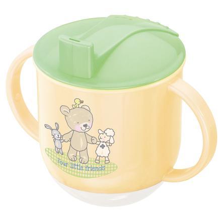 Rotho Babydesign Stehauf Tasse Beste Freunde vanille perl/lindgrün/weiß