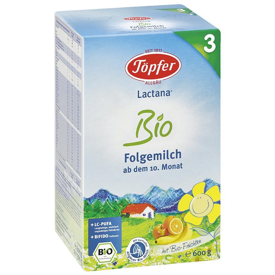 Töpfer Bio Folgemilch Lactana 600 g ab dem 10. Monat