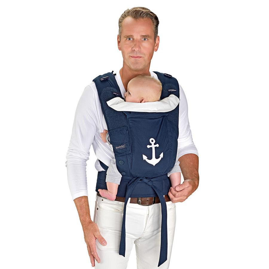 Hoppediz Babytrage Bondolino Plus Popeline marine-Anker