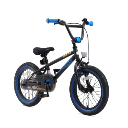 "bikestar Premium Barncykel 16"" svart/blå"