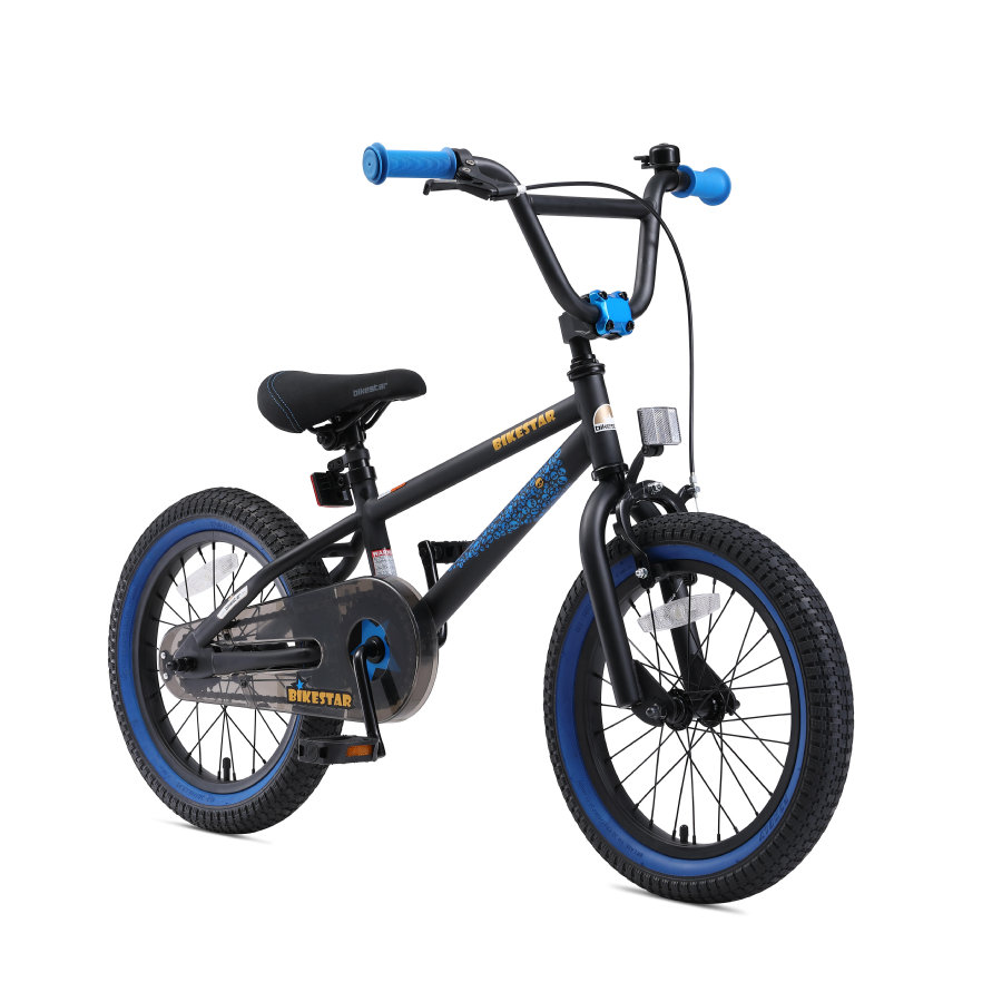 "bikestar Børnecykel16"" BMX Sort Blå"