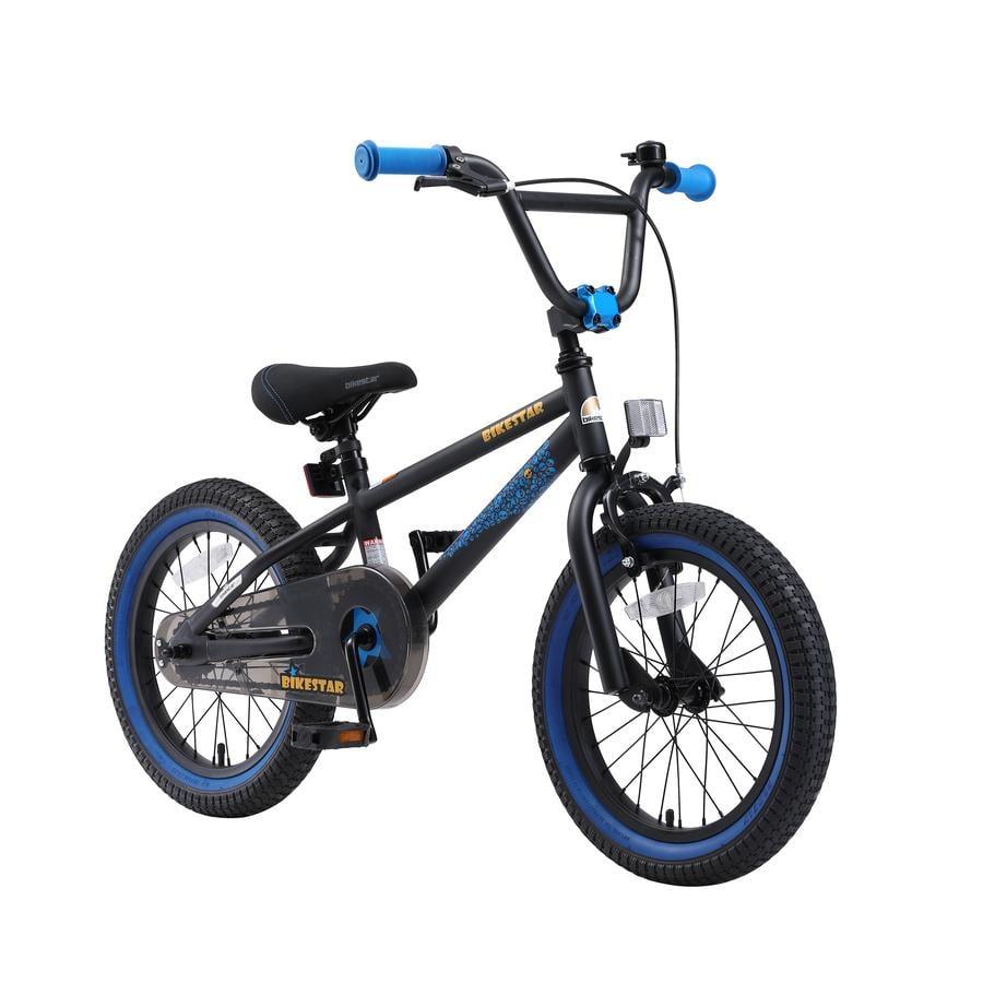 "bikestar Kinderfahrrad 16"" BMX Schwarz Blau"