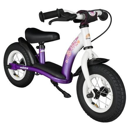 """bikestar Sicherheits-Kinderlaufrad 10"""", Candy Lila-Diamant Weiß"""