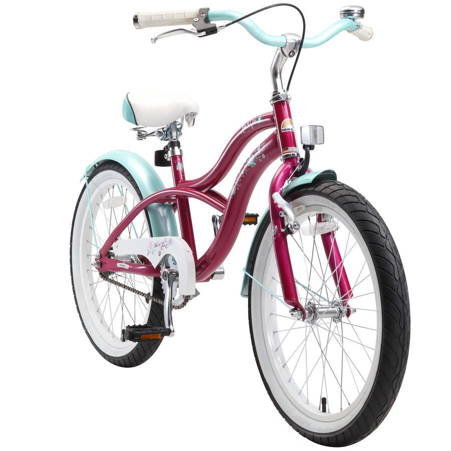 "bikestar Premium Sicherheits Kinderfahrrad 20"" Cruiser Violett"
