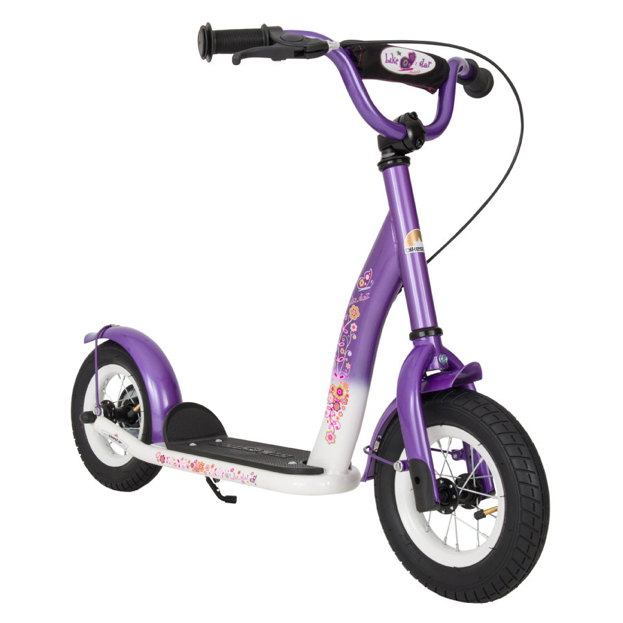 Bikestar dětská koloběžka 10''Classic Lila bílá
