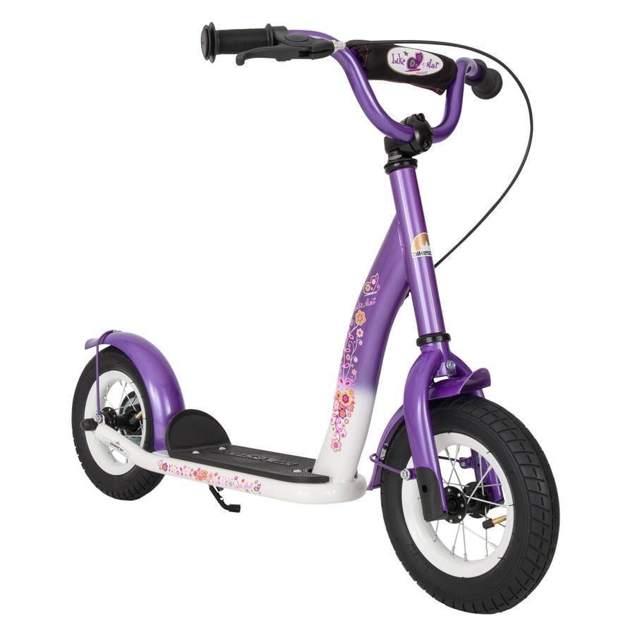 """bikestar Kinderroller 10"""" Classic Lila Weiß"""